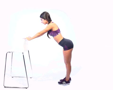 Top 5 moves for getting a better butt:  #3 - Chair Kicks