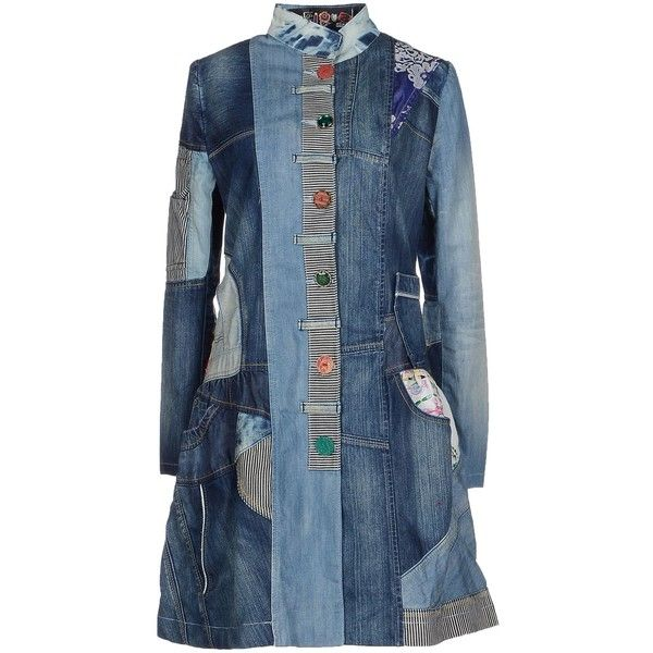 Desigual Denim Outerwear ($170) ❤ liked on Polyvore featuring outerwear, blue and desigual