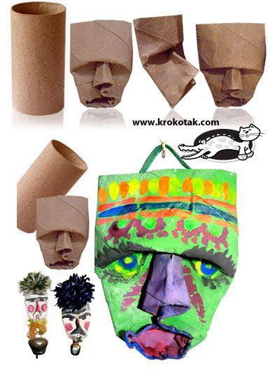 Máscaras con rollos de papel