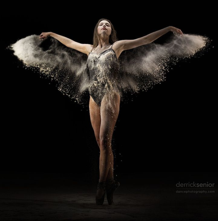 Gorgeous Wings of a Dancer Revealed through Slow-Motion Flour Dance Video - My Modern Met