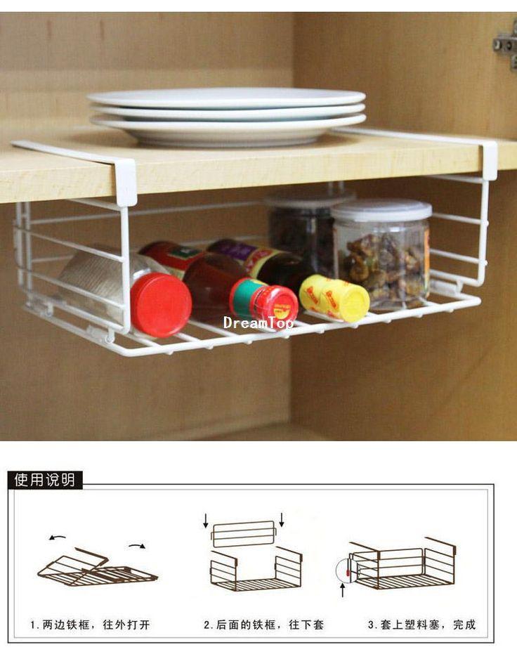 cheap wholesale under shelf wire rack storage organizer
