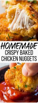 healthy baked chicken nuggets recipe - Food Holic
