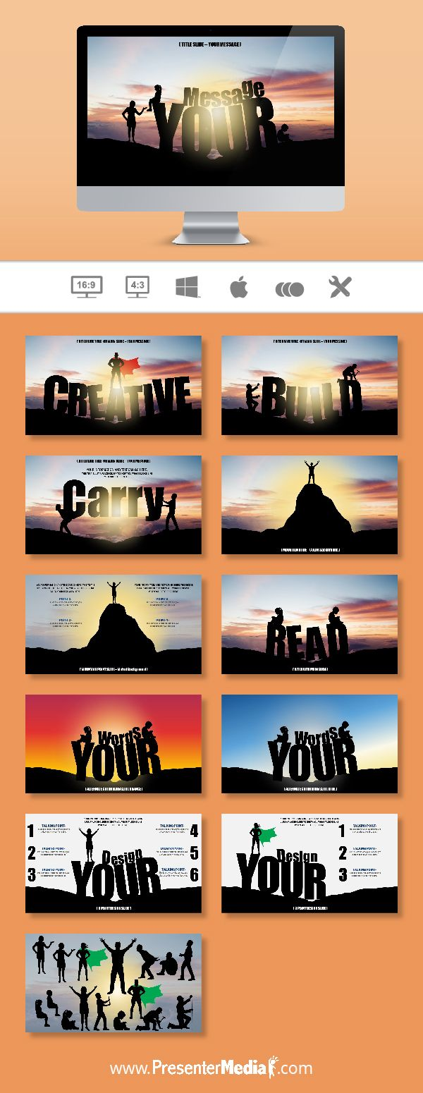 Mountain Custom Words Template #powerpoint #silhouette #templates http://bit.ly/2chf8XU