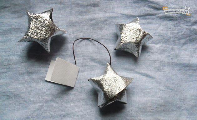 Estrellas con mensajes para la mesa de navidad mesa de - Decorar mesa navidad manualidades ...