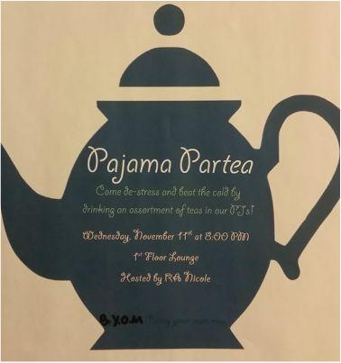 "College RA - Health and Wellness program -  Tea Party ""Partea"""