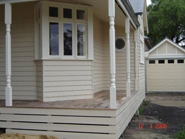 Weatherboards to enhance the appearance and maintain period style charm.