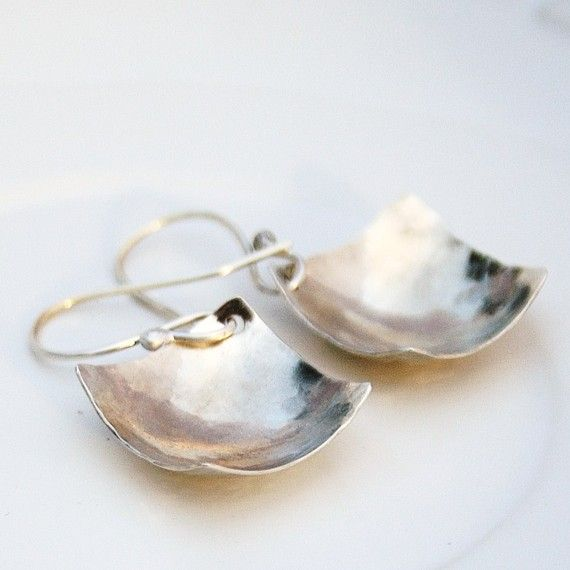 Sterling silver square earrings by BlueberryCream on Etsy, $24.00