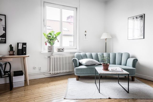 A calming swedish home in shades of grey. 55kvadrat.