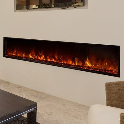Brayden Studio Odessa Landscape Full View Series Wall Mount Electric  Fireplace Size: 22.5