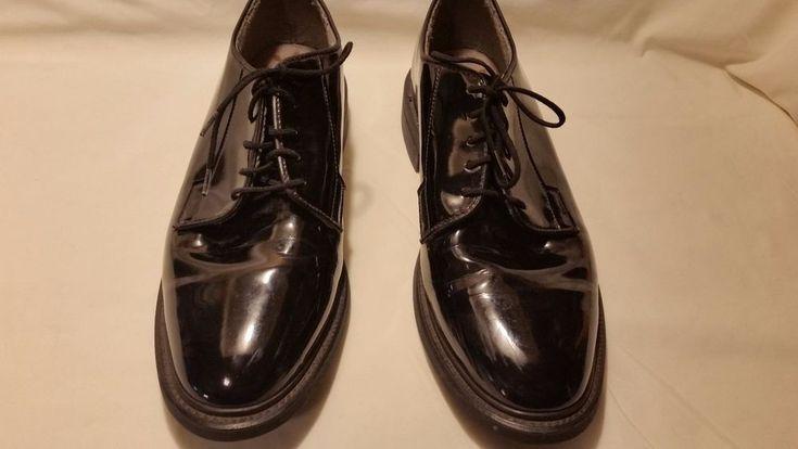 Bates Men's Oxford Shoes Uniform Dress Formal High Gloss Size  8.5 D No Insoles #Bates #Oxfords #Formal