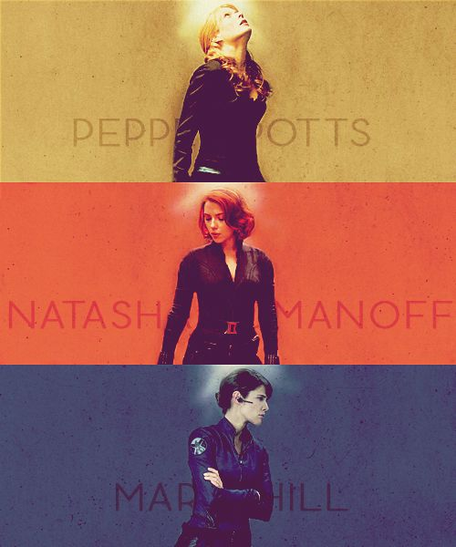 Pepper Potts, Natasha Romanoff, and Maria Hill: just a few of the awesome women of Marvel