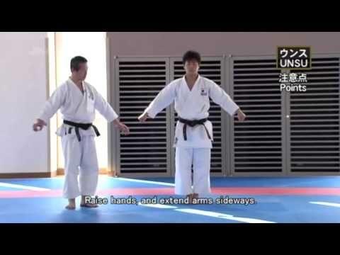 UNSU _ (Masao Kagawa , Takumi Sugino) _ Shotokan Karate Kata - YouTube