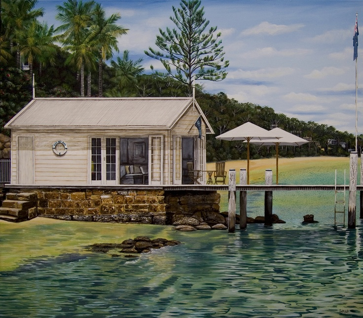 'Casa Di Papa' commissioned painting on canvas  107 x 122cm  Pittwater