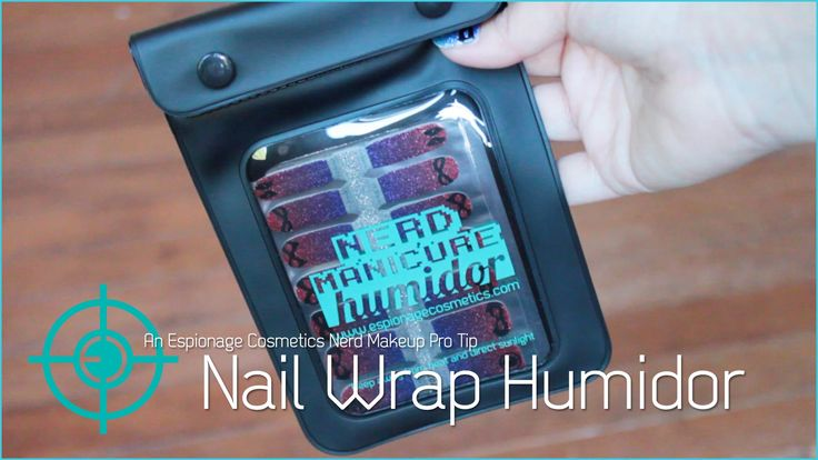 Nerd Makeup Pro Tip: Nail Wrap Humidor by Espionage Cosmetics. Keep your wraps fresh and ready to dazzle. #EspionageCosmetics #ProTips #NailTips #Nailspiration #NerdManicure