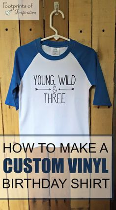 Make a custom design vinyl t-shirt from start to finish. This tutorial will teach you how to make a custom vinyl shirt.