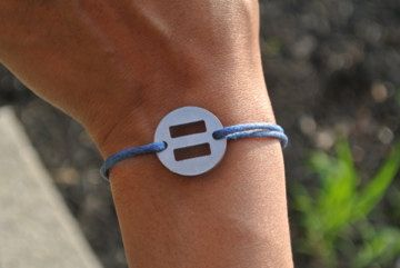Marriage Equality/Equal Rights bracelet by EqualityBandz on Etsy, $10