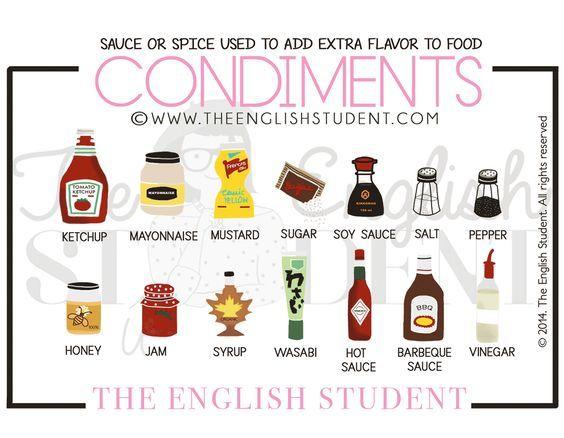 """Happy Saturday!  Il sabato è la giornata in cui solitamente ci si concede una cena fuori... allora guardiamo insieme come si chiamano in inglese alcuni condimenti!  I """"condimenti"""" in inglese si chiamano """"condiments"""" oppure, come ama chiamarli lo chef Gordon Ramsay , """"seasoning""""!   👉 VUOI IMPARARE L'INGLESE 🇬🇧GRATIS e in 4 SEMPLICI PASSI? CLICCA QUI: https://www.imparalingleseconmonica.com/opt-in/  #Englishlexicon #imparalingleseconmonica #learnenglishwithmonica #studyenglish #videolezioni…"""