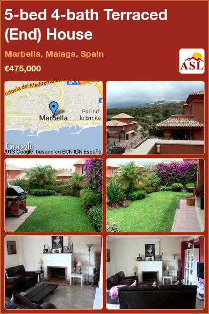 5-bed 4-bath Terraced (End) House in Marbella, Malaga, Spain ►€475,000 #PropertyForSaleInSpain