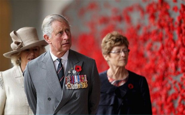 Prince of Wales and Duchess of Cornwall show their respects at the Australian War Memorial in Canberra. Photo: Getty Images