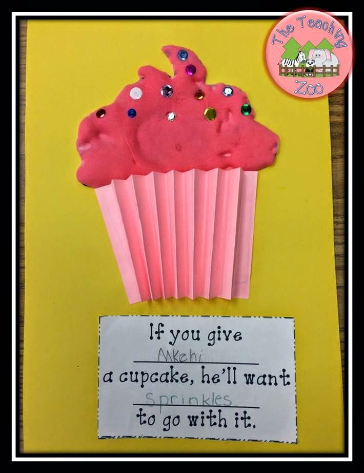 C is for Cupcake Writing Craft on the Teaching Zoo Blog - LOTS of great ideas for letter C and 2 FREEBIES!