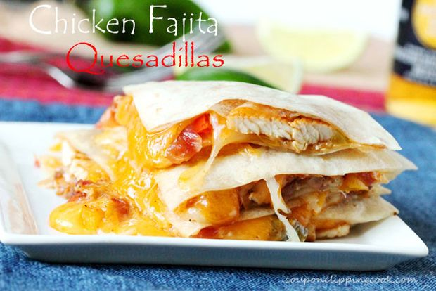 Chicken Fajita Quesadillas Recipe - RecipeChart.com