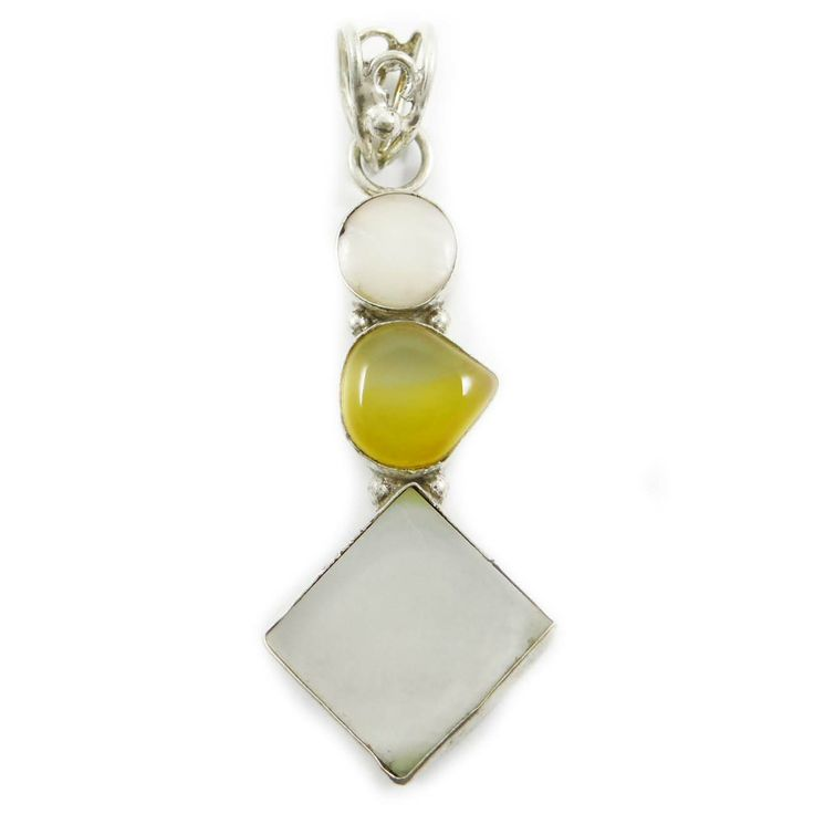 This is a beautiful silvertone metal stone pendant which will add more charms to your jewelry collection. ..this is img
