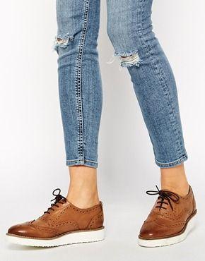 Zapatos Oxford de cuero con plataforma plana MARVELLOUS de ASOS