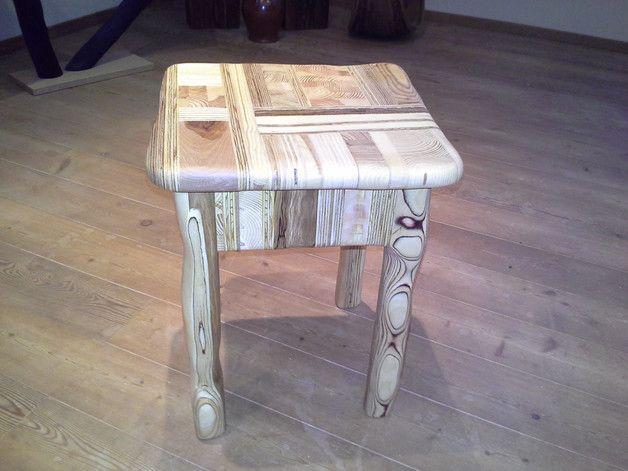 Hocker   Holz Hocker Echtholz Möbel 100% Recycling   Ein Designerstück Von  MichaMoebel Bei DaWanda