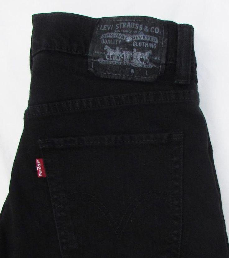 Men Levis Levi's Red Tab 511 Skinny Black Jeans Mid Rise Stretch sz 30 X 32 EUC…