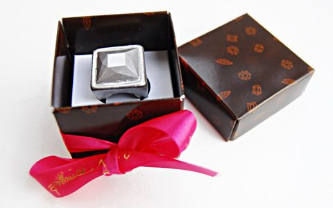 Solid Chocolate Ring with Gem