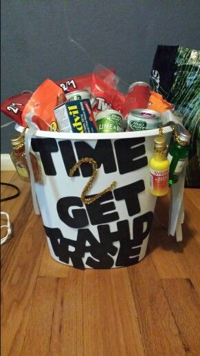 21st birthday basket!