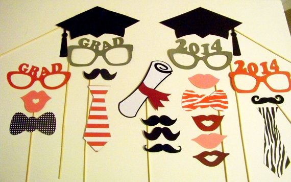Graduation Party Decorations Photo Booth Props Set of 21 Graduation Photobooth Props Graduate Class of 2014 Graduation Photo Booth on Etsy, $27.00