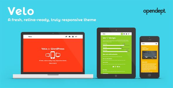 Velo - A fresh, Retina-Ready and Responsive Theme . Ask us on our support forum (or browse the tickets on our previous support