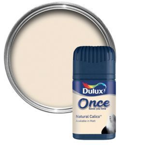 Dulux Natural Calico Matt Emulsion Paint 50ml Dulux Natural Calico Matt Emulsion Paint 50ml Tester Pot.This Natural calico emulsion paint has been specially designed to give a stunning finish to your walls  ceilings. Simply apply one coat with a http://www.MightGet.com/april-2017-1/dulux-natural-calico-matt-emulsion-paint-50ml.asp