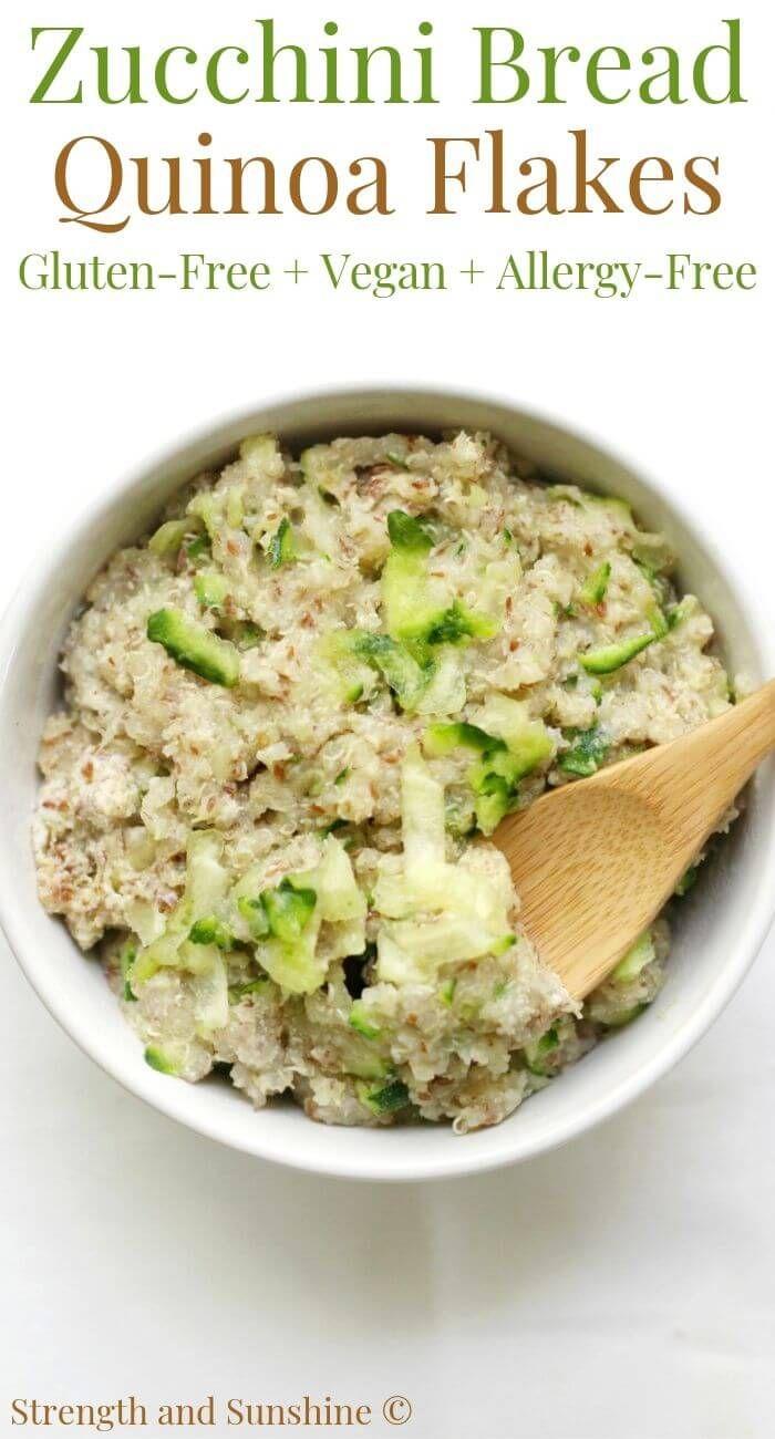 Zucchini Bread Quinoa Flakes Gluten Free Vegan Allergy Free