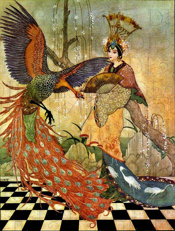 RARE. Gorgeous  Asian Arabian Nights . Vintage Fairy Tale Illustration. Digital Download. Vintage Digital Arabian Nights Print on Etsy, £1.23