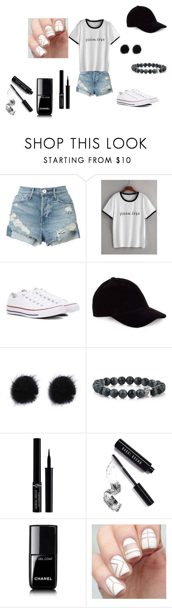 """stay weird"" by samanthawoollard on Polyvore featuring 3x1, Converse, Le Amonie, Giorgio Armani, Bobbi Brown Cosmetics and Chanel"