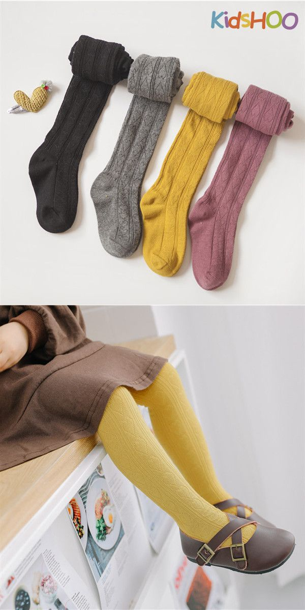 Toddler Kids Baby Cotton Tights Warm Pantyhose Socks Soft Stockings Pure Color