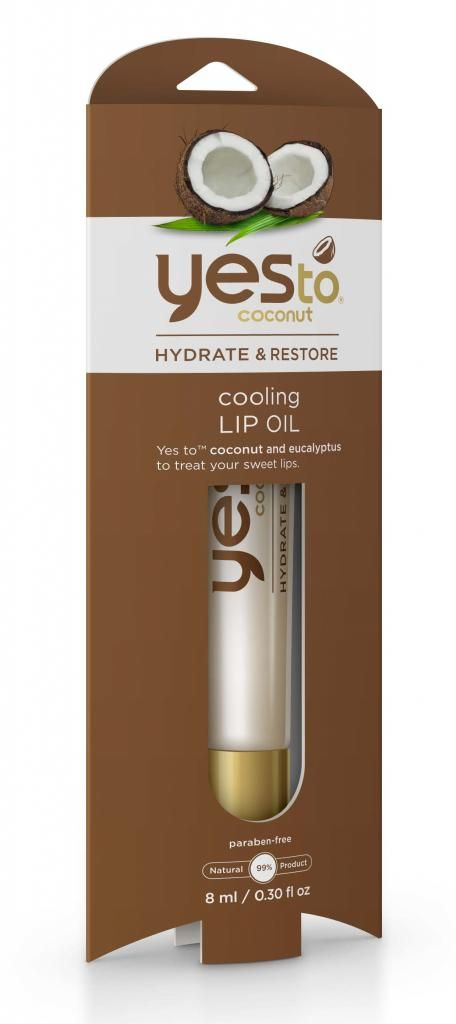 Yes to Coconut Cooling Lip Oil from Yes to Carrots: Better than a lip balm!Makeup, Yes To Coconut