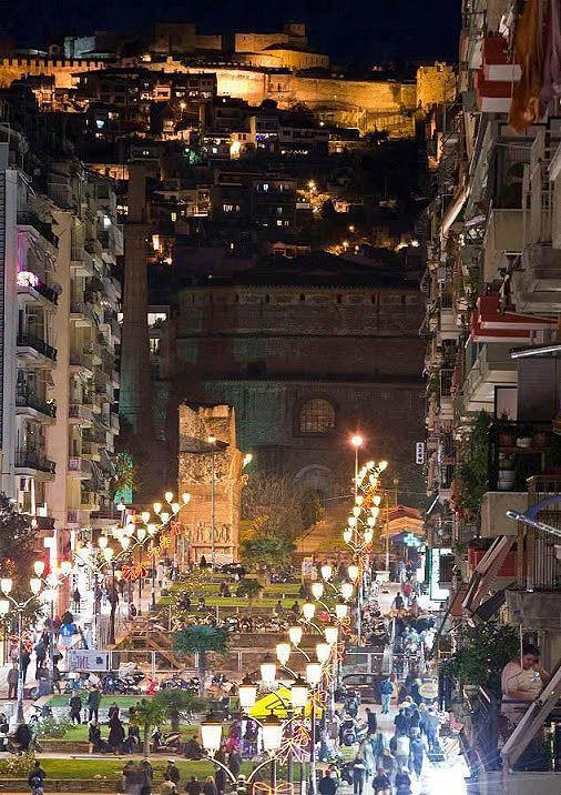 Thessaloniki center Macedonia Greece