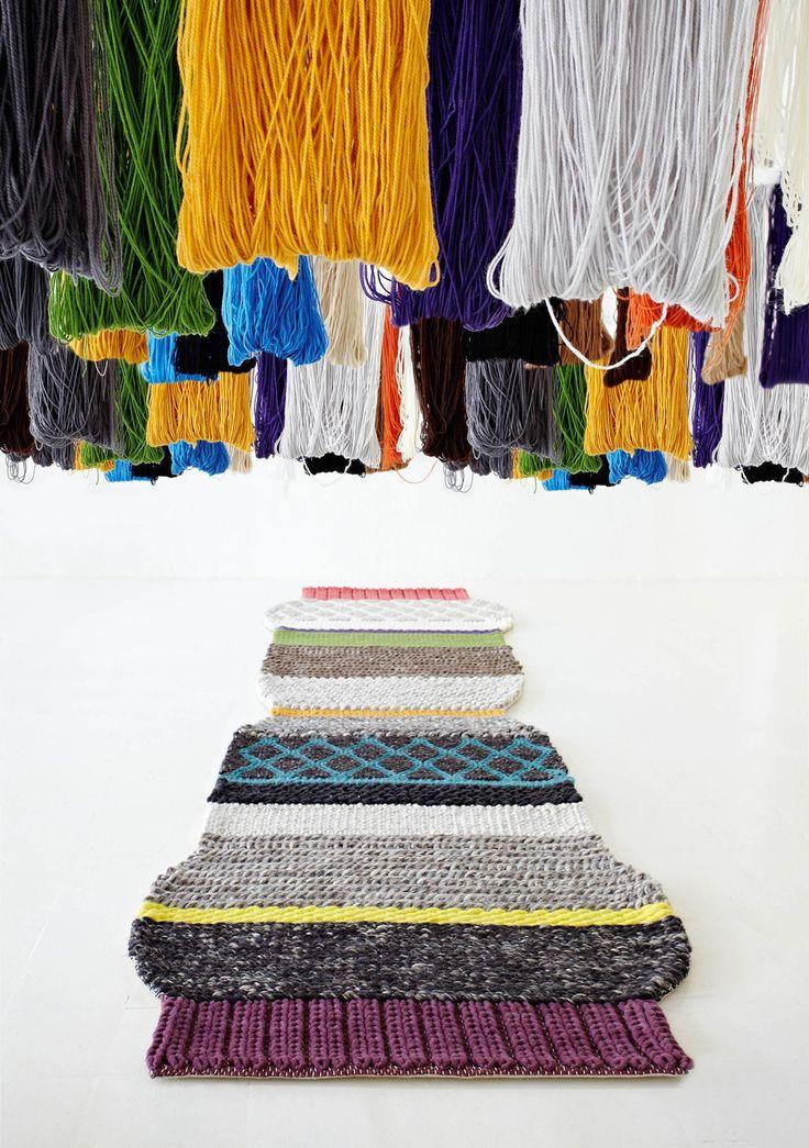 Красочные ковры MANGAS от дизайнера Patricia Urquiola для Gandia Blasco