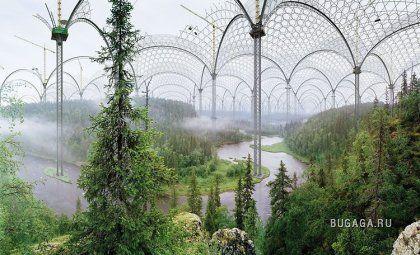 Финский художник Илькка Халсо (Ilkka Halso) уверен, что скоро проблема загрязнения окружающей среды станет настолько острой, что нам придется отправляться в специальные парки развлечений, чтобы полюбоваться на природный пейзаж. Будем надеяться, что фантазии художника из Финляндии никогда не станут реальностью.
