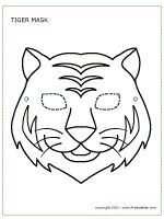Tiger mask coloring sheet