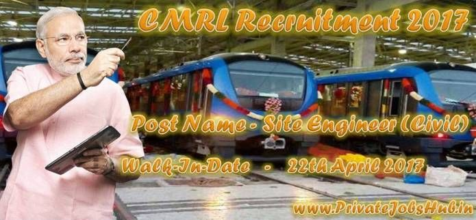 Walk-In interview is going to conduct by the selection committee of the Chennai Metro Rail Limited on below presented specified date and venue. Aspirants who want to attend this interview are required to apply for the latest job notification which is CMRL Recruitment.