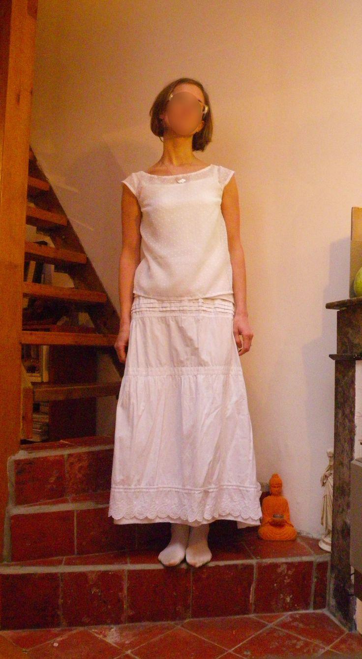 blouse plumetis recyclage vieux rideaux