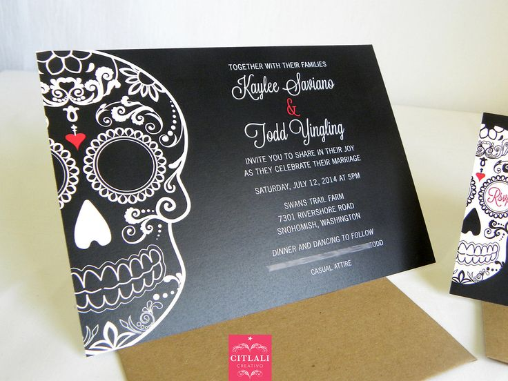 87 best images about day of the dead / dia de los muertos, Wedding invitations
