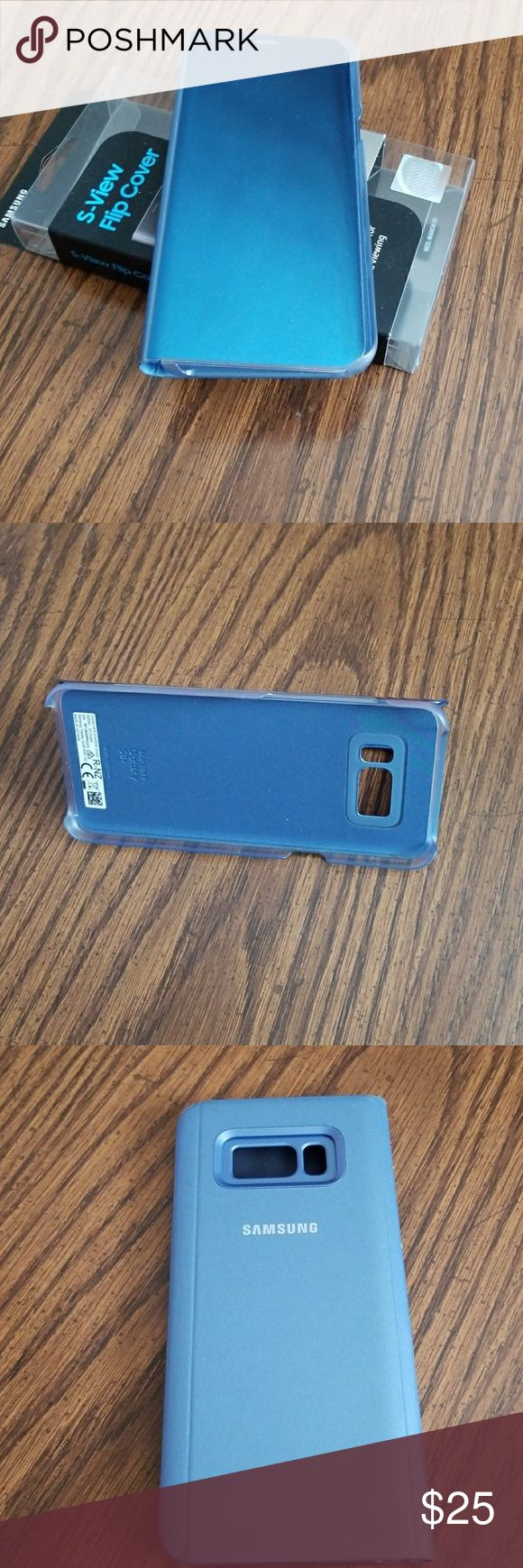 Samsung S8 Plus Flip Cover Case Flip cover built in kickstand for easy media viewing. Instant full screen access when cover is closed. Other
