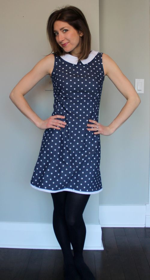 Bianca's Francoise dress with collar and bound hem