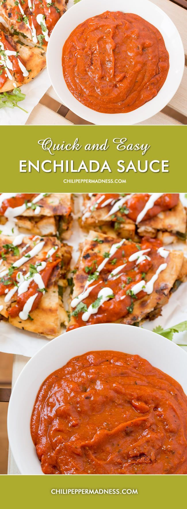 Quick and Easy Enchilada Sauce from Chili Pepper Madness