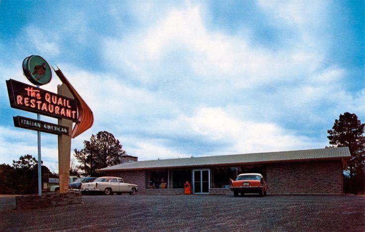 The Quail Restaurant in Alexander City, Alabama - 1955. Seating capacity 115…